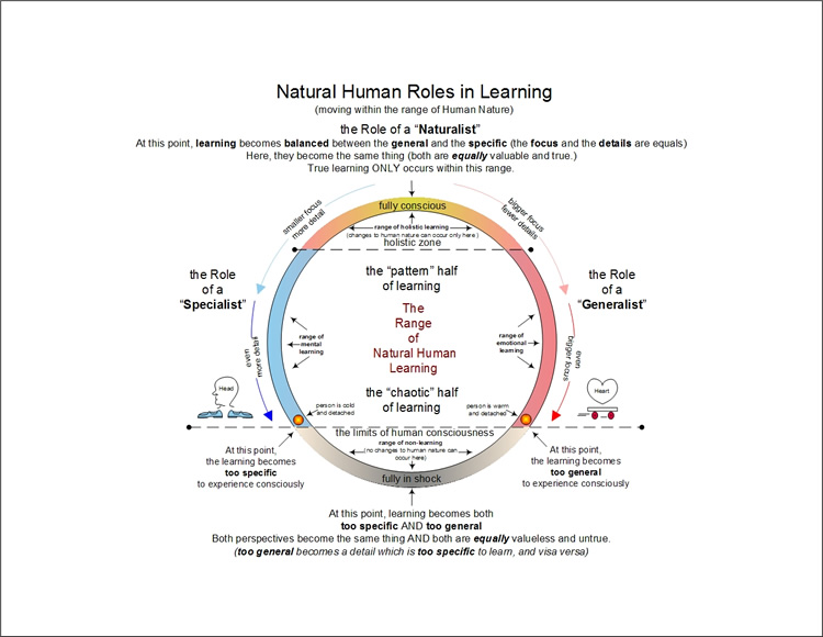 Natural Human Roles in Learning - per Emergence Personality Theory