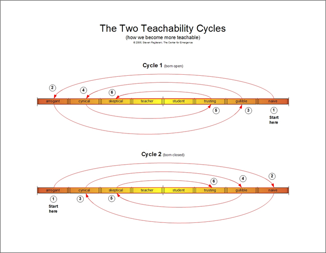 Openness to Learning and Teachability Cycles - per Emergence Personality Theory